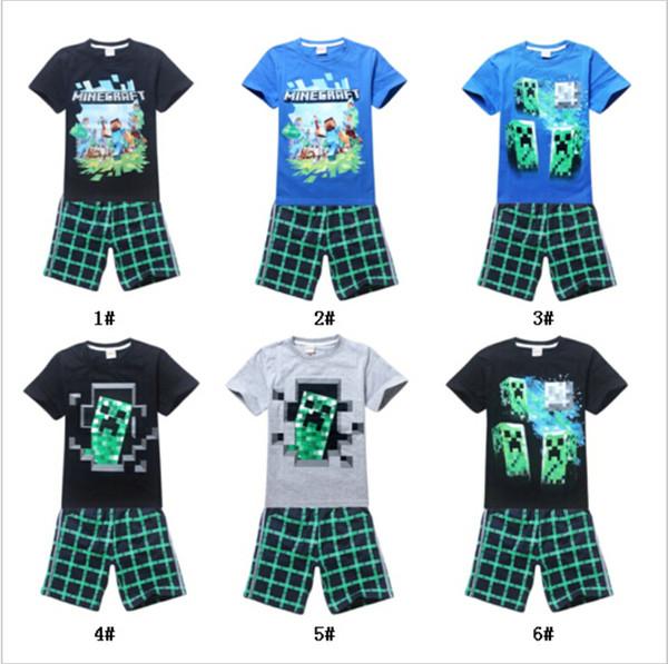 Summer Boys cartoon Clothing Sets Fashion Children Baby Boys Cartoon Shirt + Shorts Clothing Suits Kids Clothign Set For 4-12T