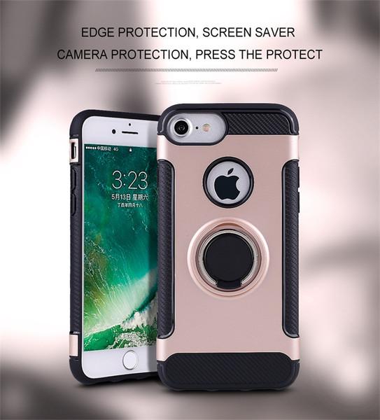 Kickstand Hybride Cool Luxe 360 Degrés Anneau Phonee Cas Durable Housse De Protection Pour Samsung S7 Edge S8 S9 Plus A3 A5 A7 2017
