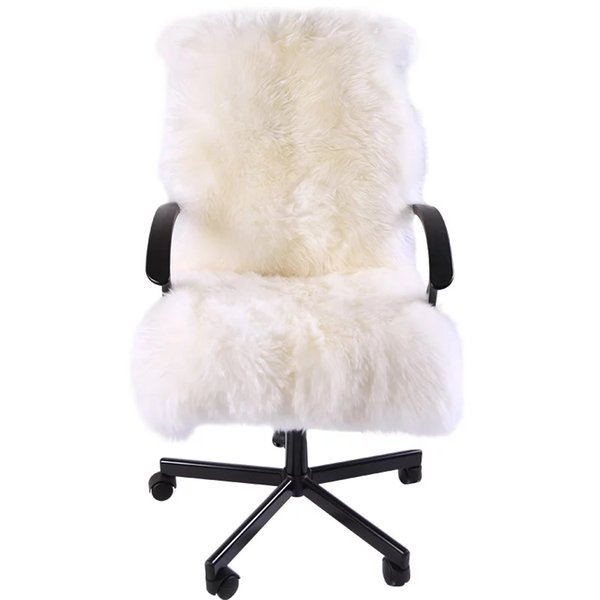 Sensational Special For Winter Whole Sheep Fur Chair Cover Cushion 1 3P 60 130Cm Sheepskin Rug For Rocking Chair Cushion Sheep Fur Recliner Mat Industrial Lamtechconsult Wood Chair Design Ideas Lamtechconsultcom