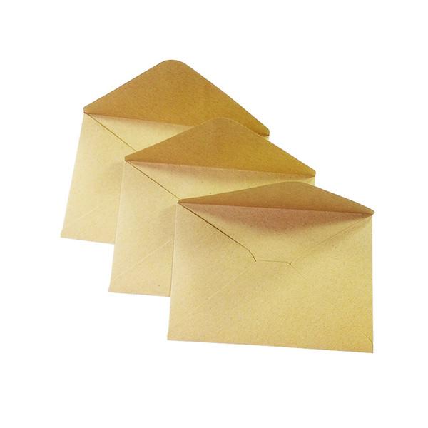 Wholesale- 100PCS/lot Vintage Kraft paper envelope 16*11cm DIY Multifunction Gift card envelopes for wedding birthday party
