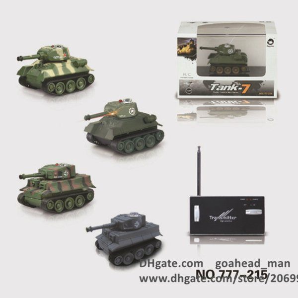 Mini RC Tanks With LED Light 4 Channels 49 MHz High Sensitive Transmitter  Charging Rc Military Vehicles Great Toys For Boys Car Remote Control