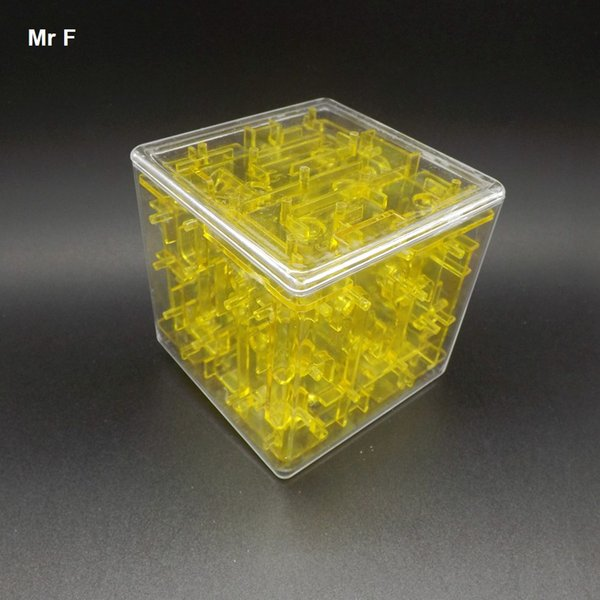 3D Rolling Ball Maze Cube Puzzle Toy Children Educational Intelligence Toys Kids Gift Game Toy Intelligence IQ Brain Teaser