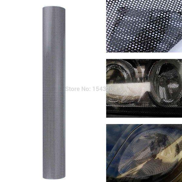 106x50 cm Tintométrico Filme de Malha Tintométrico Fly-Eye MOT Legal Tint Farol Luz Da Ordem do carro $ 18no faixa