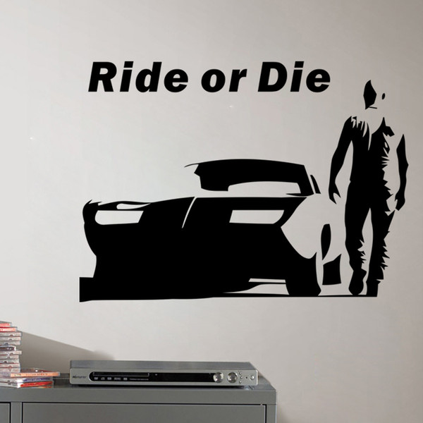 Acheter La Citation Stickers Muraux Décoratifs Decal Fast And Furious Et Dire Décoration Voitures Drift Wallpaper Christmas Party Wall Art De 4 03 Du