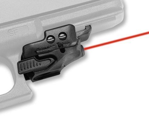 Crimson Trace CMR-201 Rail Master Laser Sight mini rotes Laservisier mit Universalhalterung passt Pistolenpistole für die Jagd