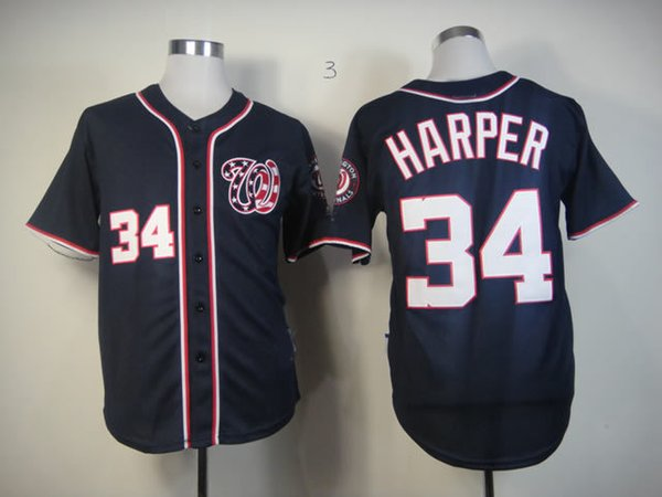 sports shoes 46806 de56e 2019 Nationals #34 Bryce Harper Navy Blue Men'S Stitched Baseball Jersey  Allow From Cheer, $20.36 | DHgate.Com