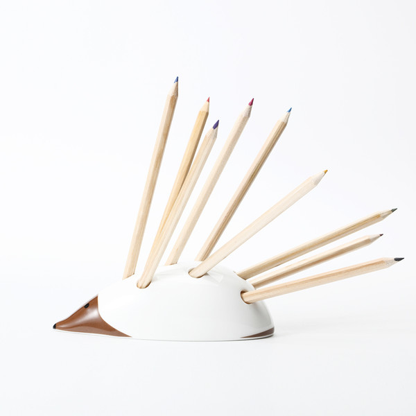 Creative Hedgehogs Penholder Storage Box Ceramic Pencil case Brush pot