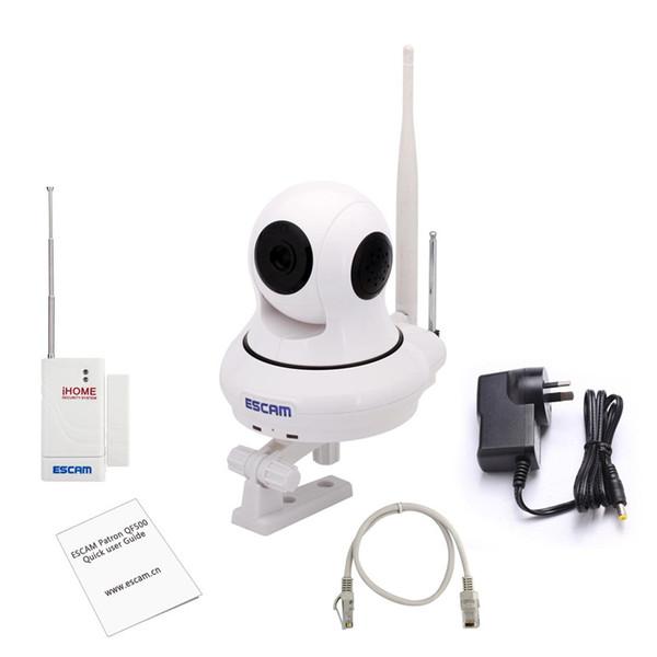 PIÙ NUOVA originale ESCAM QF500 P2P 720P HD 1.0Mega Pan / Tilt WIFI Sistema di allarme Mini telecamera CCTV IP di sicurezza