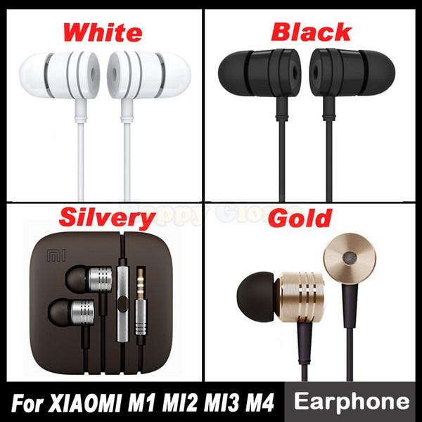 Venta al por mayor-Nuevo Auricular para XIAOMI M4 MI4 M3 MI3 Arroz Rojo M2 MI2S MI2A MI2A Mi1S M1 Piston 2 con micrófono remoto Auriculares Envío Gratis