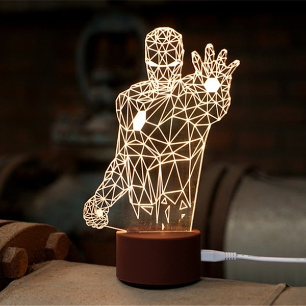 2018 novel iron man 3d light fx deco led wall night light wood lamp novel iron man 3d light fx deco led wall night light wood lamp avengers marvel official aloadofball Images