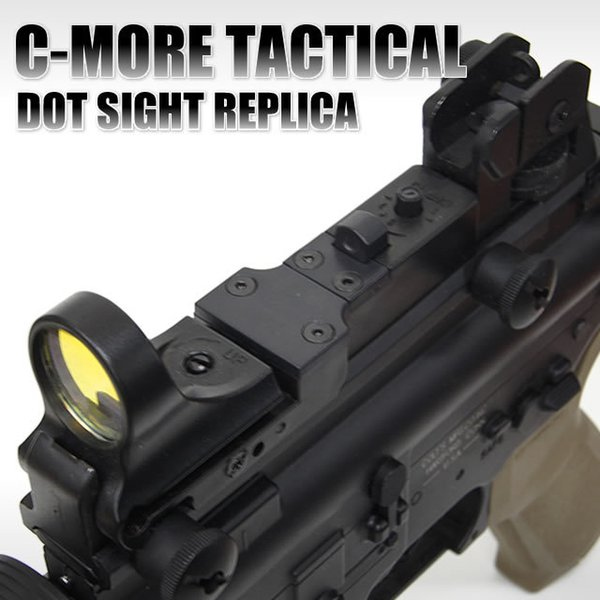 Tactical C MORE 8 MOA Red Dot Reflex Sight With AR Rear Iron Sight Integral  Picatinny Mount Black Long Range Optics Best Optics From Tacticalgear,