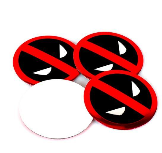 Deadpool Wheel Cover Sticker High Quality 56.5mm Aluminum alloy Sticker emblem badge for BMW Car Wheel centre cover