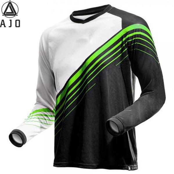 3 Estilos Motocross Camisetas Mountain Bike Bicicleta Ciclismo Jersey Secado rápido Motocicleta Perspiración Wicking Camisetas de manga larga
