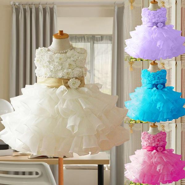 2016 enfants en bas âge 3D enfants Koopo filles ont augmenté robe de princesse robe de tutu sans manches Hot Sale! Livraison gratuite!