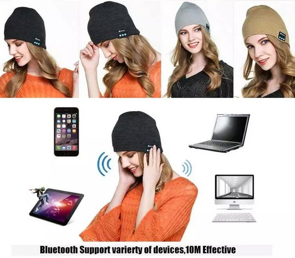 Bluetooth Hat Music Beanie Cap Bluetooth V4.1 Stereo wireless earphone Speaker Microphone Handsfree For Phone