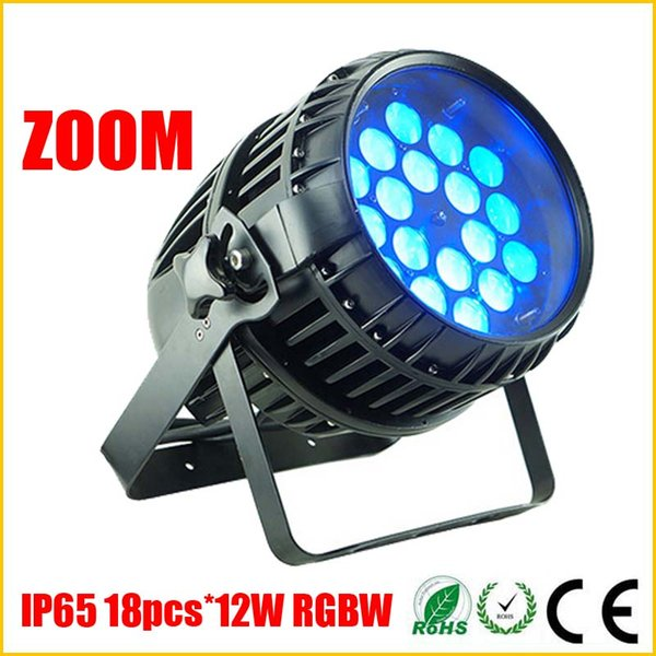 DHL Free 18PCS*12W RGBW 4IN1 Quad LED Par Lights,IP65 DMX512 Stage Light,Zoom Dimming Function