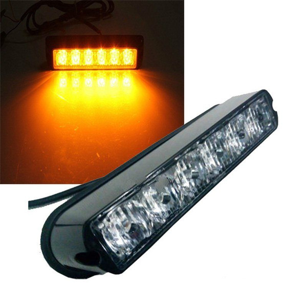 6 led light bar beacon vehicle grill strobe light emergency warning 6 led light bar beacon vehicle grill strobe light emergency warning flash amber free shipping aloadofball Images