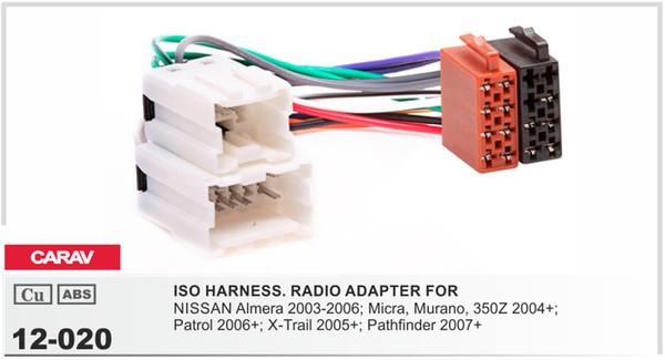 2018 Carav12 120 Car Iso Radio Plug For Nissan Stereo Wiring Harness ...