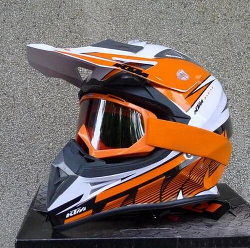 2015 mais novo DOT certificação KTM OFF Road capacete da motocicleta Motorcross capacetes de moto orange cor branca feita de ABS tamanho M L XL XXL