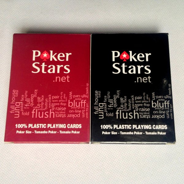 2 Lets/Lot Plastic playing card game Texas Holdem poker cards Waterproof and dull polish poker star Board games