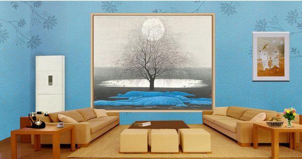 Großhandel Chinesische Malerei Leben Baum Sonne Landschaftsmalerei 3d  Tapeten Badezimmer Von Wallpaper2018, $50.26 Auf De.Dhgate.Com | Dhgate