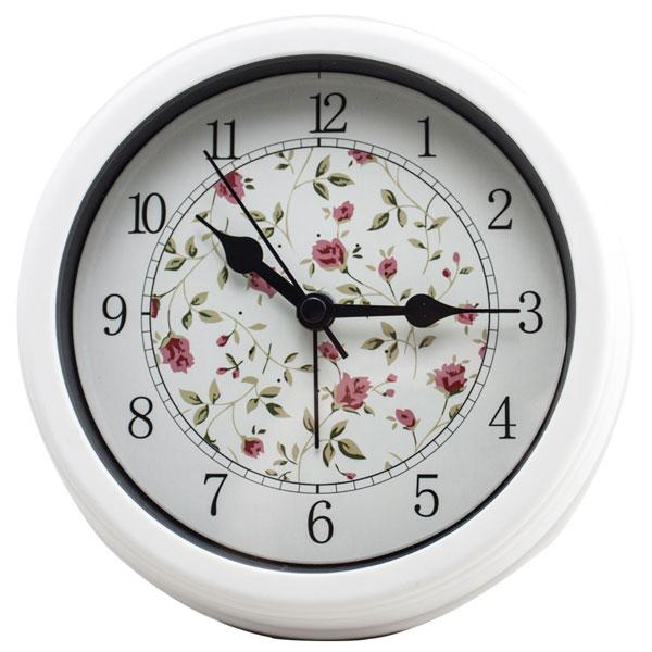 Kleine Runde Wanduhr Home Decor Mute Uhr No-ticking Einfaches Design Tischuhr Blume und Vogel Wecker