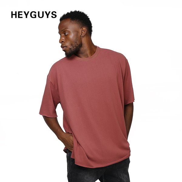 HEYGUYS cotton t shirts mens string in the back new summer street wear hip hop T-SHIRTS 2017 brand fashion t-shirts pure color q17118