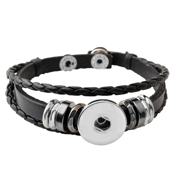 best selling P00650 Hot wholesale Snap Button Bracelets Newest Design Fashion NOOSA chunks Leather Bracelets Fit 18mm Noosa Chunk DIY Rivca Snaps Jewelry