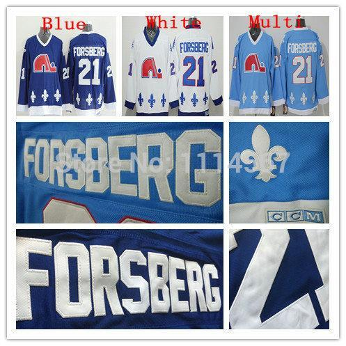 quebec nordiques 21 peter forsberg navy blue throwback ccm jersey 063ed0537