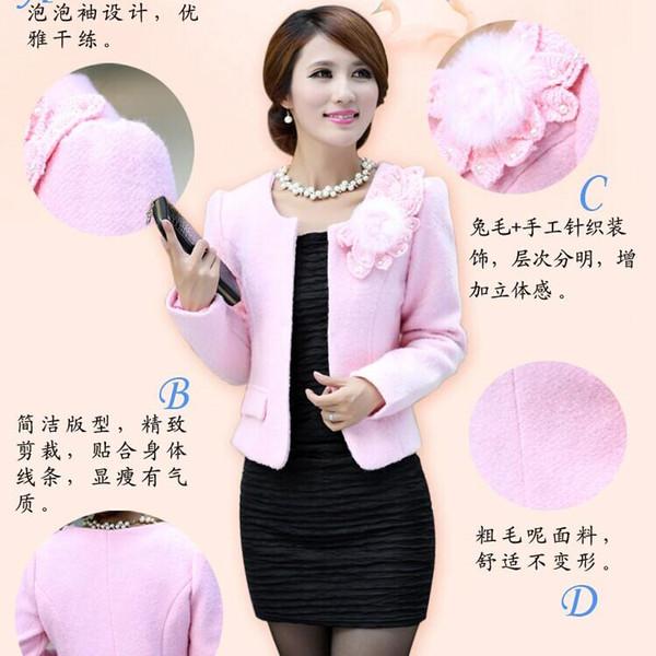 De Invierno 4015 2015 Elegante Abrigo Mujer Perlas Compre tp1Zqxx