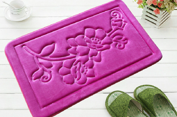 Free Shipping Doormats Floor Protect Pad Matting Carpets Suede Rugs Bathroom Mat Slow Rebound Covers