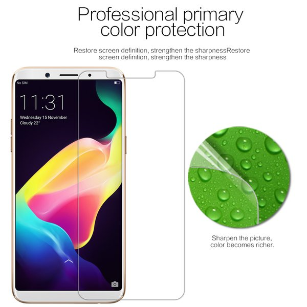 NILLKIN /For OPPO F5 OPPOF5 Protective Film Crystal Super Clear HD Anti  Fingerprint Screen Protector Explosion Proof Tempered Glass Film Screen