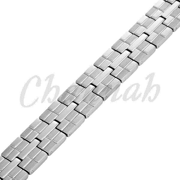 2015 Men Jewelry 36pcs Magnets Silver High Power Magnetic Titanium Bracelet Healing Male Bangle Free Shipping via Hong Kong Post