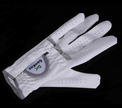 Outdoor sport Hight Quality Breathable Golf Glove Left Hand Super Fine Cloth Soft White Size 22-26 LB SS free shipping