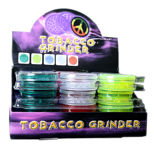 Grinder with Magnet for Herbal Tobacco Herbs Smoking Handle Pipe Smoke Plactic Grinder For E Cigarette Dry Herb Vapor