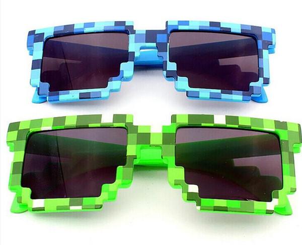 092fbfe9a0 Lunettes de soleil de bande dessinée pour la mode Femmes Hommes Vert et  Bleu Lunettes de