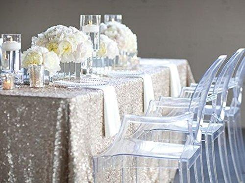 best selling SILVER SEQUIN TABLECLOTH, Silver Wedding Tablecloth, Silver Glitter Tablecloth, Sparkly Sequin Tablecloth For Weeding Brithday(48''*72'')