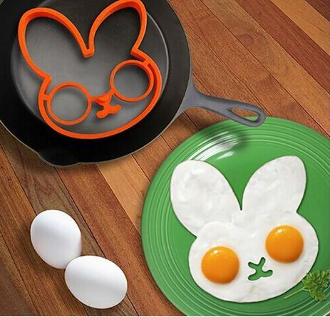 silicone Egg Mold Non-stick Egg Fried Frying Mould Pancake Mold Ring Cooking Breakfast Tools owl rabbit shaper
