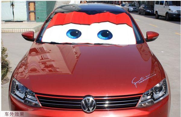 Pixar Cars Lightning Mcqueen Front Car Windshield Sun