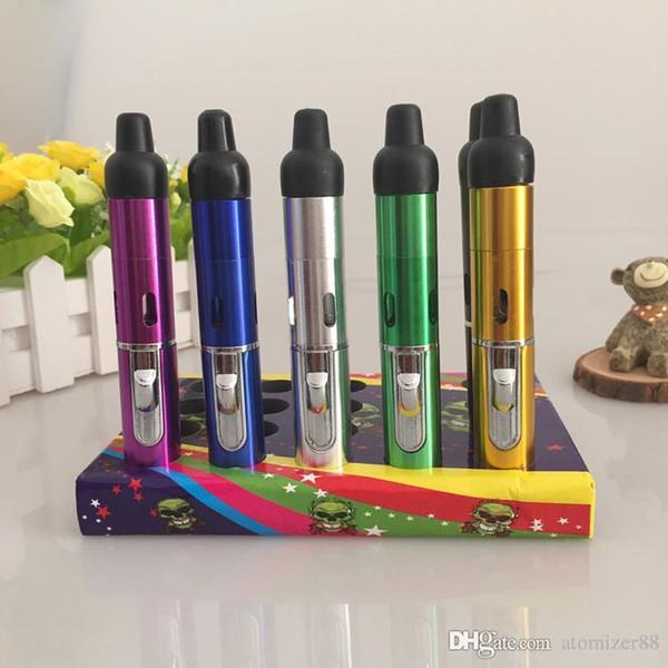 7 Colors click n vape vaporizer Mini Herbal Vaporizer pen smoking pipe Hookah pipe Smoke with built-in Wind Proof Torch Lighter pen