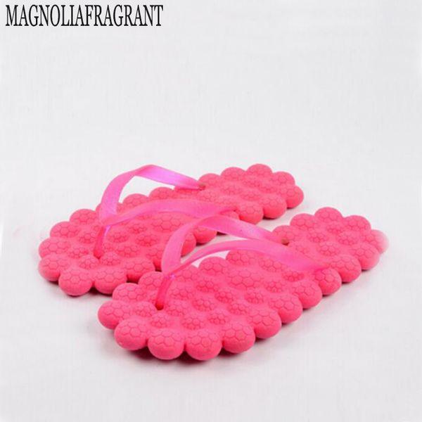 2017 cute little fresh bubble shoes sandals household summer beach massage slippers Fashion candy color flip flops s282