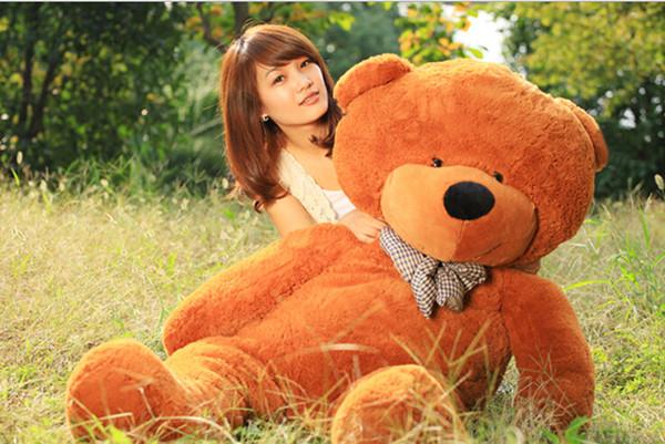 "Free Shipping 6 FEET TEDDY BEAR STUFFED LIGHT BROWN GIANT JUMBO 71"" size:160cm"