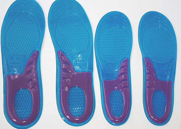 100pairs/lot Massaging Gel Insole Sport Silicone Insoles Men/Women size Wholesale Free shipping
