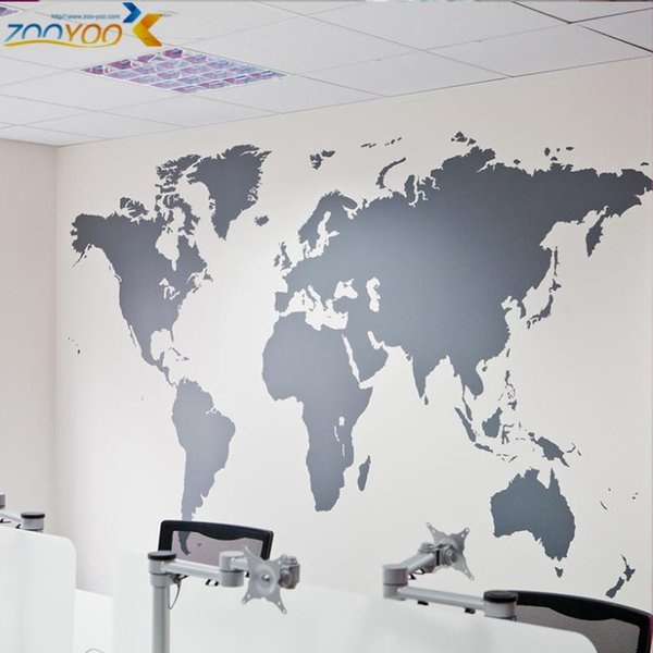 map of world wall stickers home decorations Sticker diy removable vinly wall decal study room living room wall decals