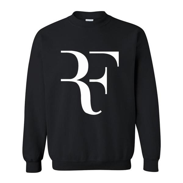 Nouveau Mode Roger Federer RF Hommes Casual Col rond Manches Longues Coton Hommes Polaire Hoodies Sweatshirts Homme Vêtements Free drop shipping