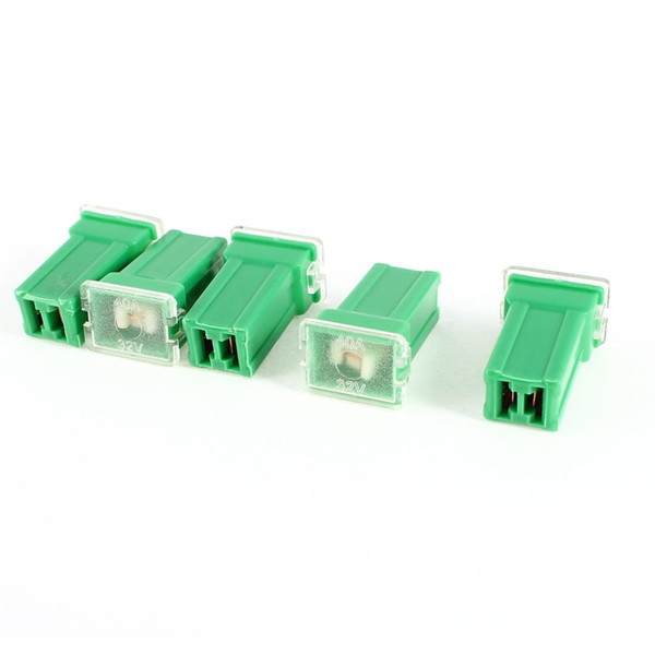 best selling FS Hot Truck Car Straight Female Terminals PAL Fuse 40A Green 5 Pieces order<$18no track