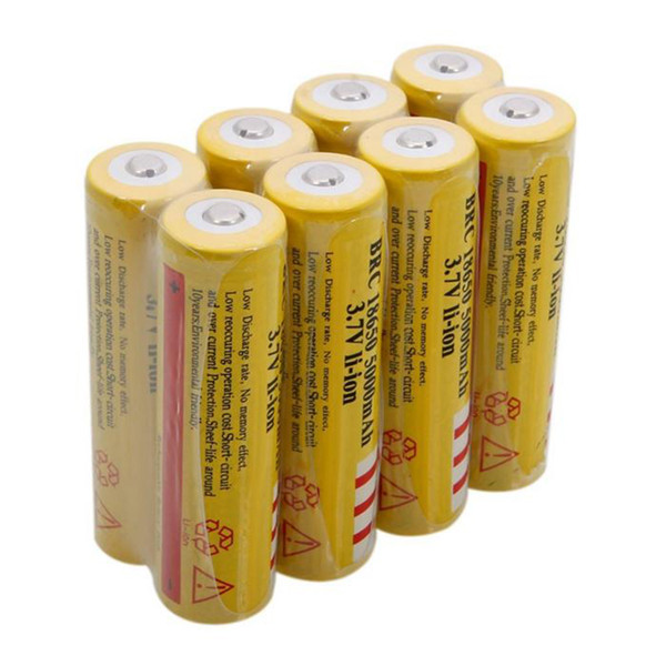 top popular Yellow UltraFire 18650 High Capacity 5000mAh 3.7V Li-ion Rechargeable Battery For LED Flashlight Digital Camera Lithium Batteries Charger 2021
