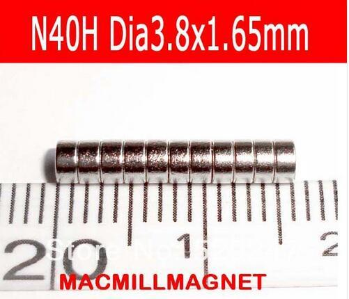 2016 Brand New Permanent magnetic Disc dia3.8x1.65mm,Mini magnet, strong NdFeB magnet, 100pcs/pack, rare earth magnet