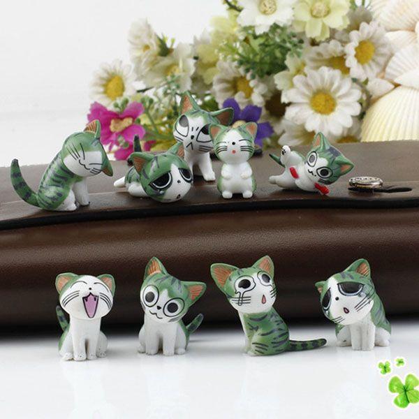 4pcs creativi del mestiere della resina Figura animale decorazione del