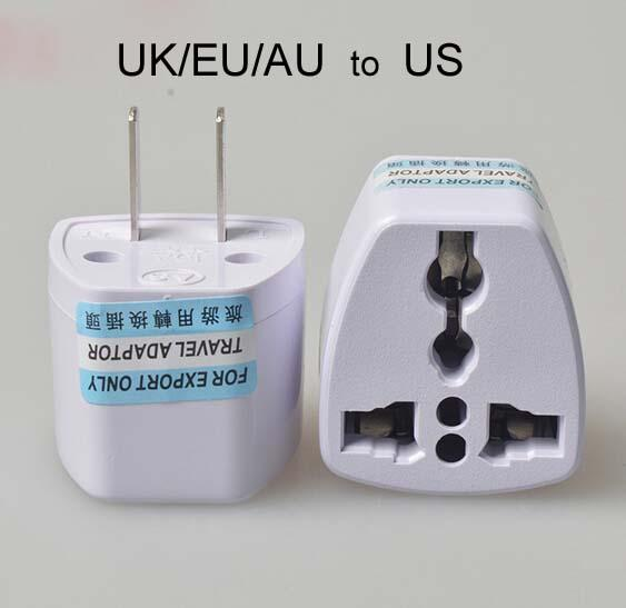 top popular High Quality Travel Charger AC Electrical Power UK AU EU To US Plug Adapter Converter USA Universal Power Plug Adaptador Connector(White) 2020
